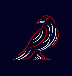 Modern bird raven logo vector