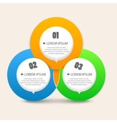 Modern business circle shapes like options banner vector image