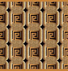 Modern textured greek 3d seamless pattern vector