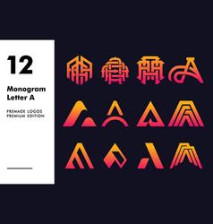 Monogram letter a logo template vector