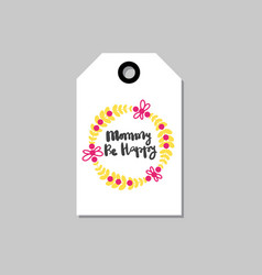 mothers day holiday card tag shape isolated with vector image