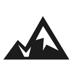 mountain silhouette icon black outdoor landscape vector image