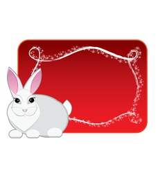 new year rabbit vector image vector image