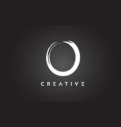 O brush letter logo design artistic handwritten vector