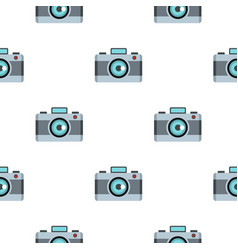 Photo camera pattern flat vector