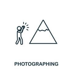 photographing outline icon thin line concept vector image
