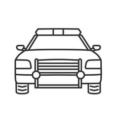 police car linear icon vector image