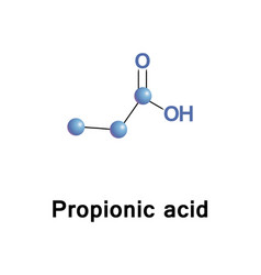 Propionic or propanoic acid vector