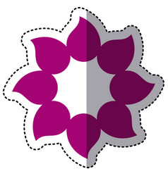 purple flower with pointed petals icon vector image