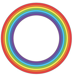 Rainbow circle - element vector
