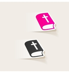 Realistic design element bible vector