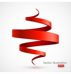 Red spiral 3D vector image