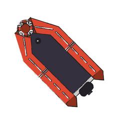 rescue boat icon vector image