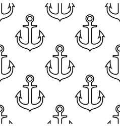 Retro seamless pattern with ship anchors vector