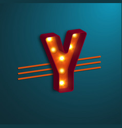 retro style letter y vector image