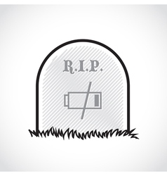 RIP coffin set vector