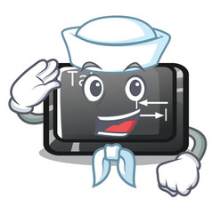 Sailor tab button installed on computer character vector