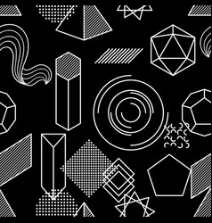 seamless pattern with abstract geometric shapes vector image