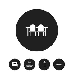 set of 5 editable furniture icons includes vector image