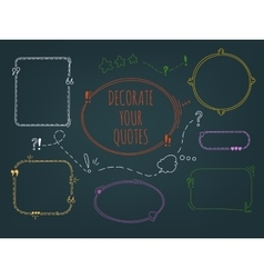 Set Of Handdrawn Frames vector