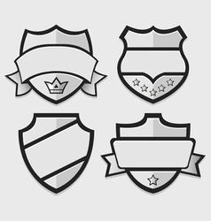 Set of silver retro badges vector image vector image