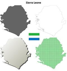 Sierra Leone outline map set vector image