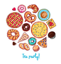 Sketch bakery round vector