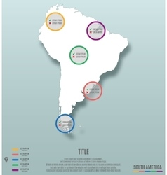 South America Continent Map Infographics vector image