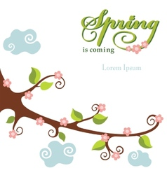 Spring flowering branch background vector image
