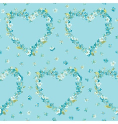 Spring Flowers Heart Background vector