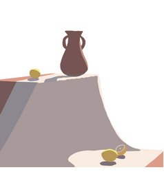 Still life on table the composition with the vector