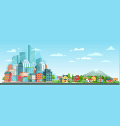 suburban and urban cityscape modern city vector image