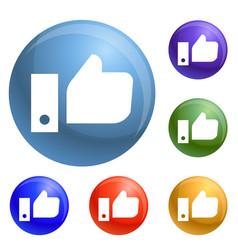 thumb up icons set vector image