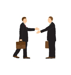 Two businessmen Handshake Greeting Congratulation vector