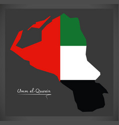 umm al-quwain map of the united arab emirates vector image