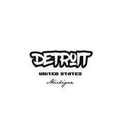 United states detroit michigan city graffitti vector