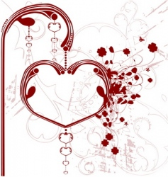 valentine heart lantern vector image