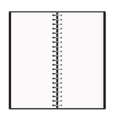 vertical spring notepad mockup isolated vector image