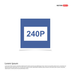 Video resolution icon - blue photo frame vector