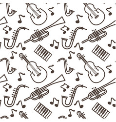 violin and pipe saxophone and piano musical vector image