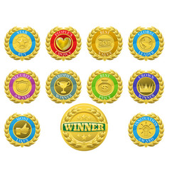 Winners medals vector