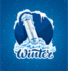 winter calligraphic text vector image