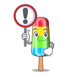 With sign colorful ice cream sticks on cartoon vector