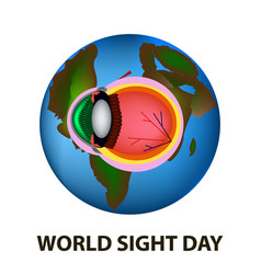 World sight day october 11 planet earth vector