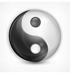 Yin yang symbol on white vector image