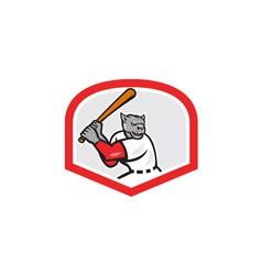 Black Panther Baseball Player Batting Cartoon vector image vector image