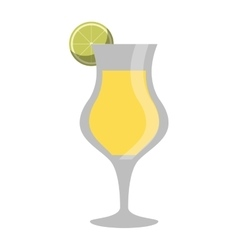 Cocktail glass cup alcoholic beverage vector
