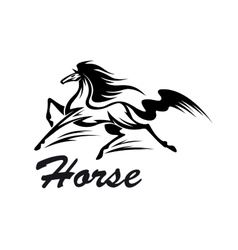 Equestrian riding club symbol with running horse vector image vector image
