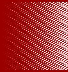 halftone pattern background heart shapes vintage vector image vector image