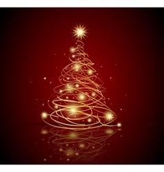 Modern Christmas tree vector image